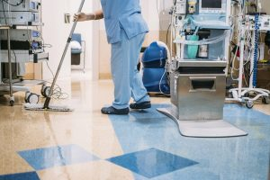 Dry Moping Hospital Floor
